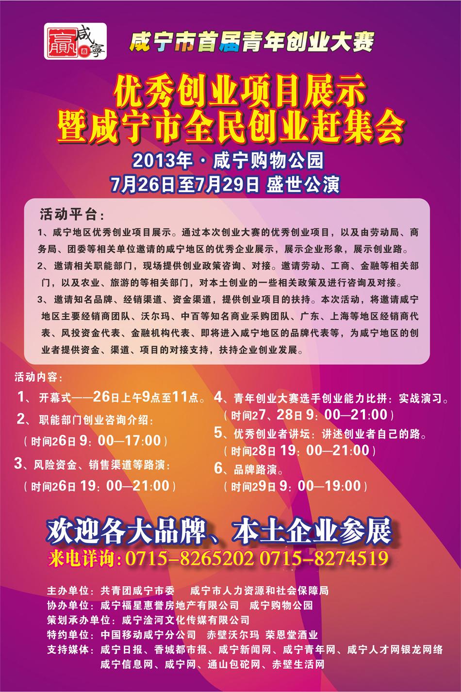 咸宁市首届青年创业优秀创业项目展示会
